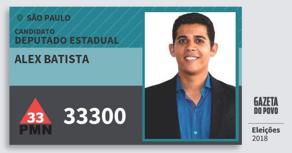 Santinho Alex Batista 33300 (PMN) Deputado Estadual | São Paulo | Eleições 2018