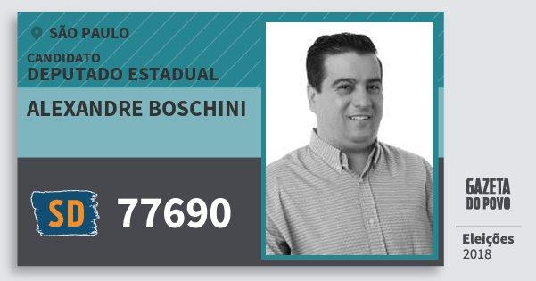 Santinho Alexandre Boschini 77690 (SOLIDARIEDADE) Deputado Estadual | São Paulo | Eleições 2018