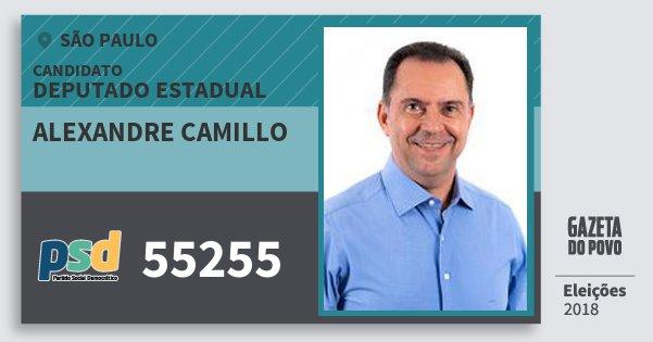 Santinho Alexandre Camillo 55255 (PSD) Deputado Estadual | São Paulo | Eleições 2018