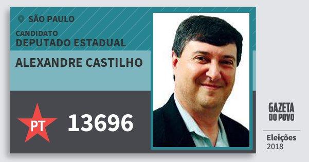 Santinho Alexandre Castilho 13696 (PT) Deputado Estadual | São Paulo | Eleições 2018