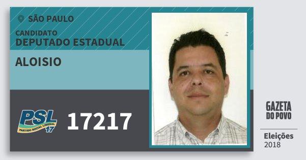 Santinho Aloisio 17217 (PSL) Deputado Estadual | São Paulo | Eleições 2018