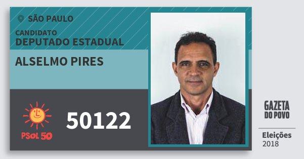 Santinho Alselmo Pires 50122 (PSOL) Deputado Estadual | São Paulo | Eleições 2018