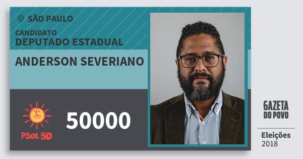 Santinho Anderson Severiano 50000 (PSOL) Deputado Estadual | São Paulo | Eleições 2018