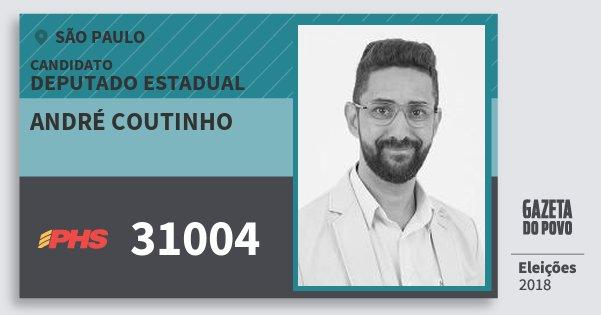 Santinho André Coutinho 31004 (PHS) Deputado Estadual | São Paulo | Eleições 2018