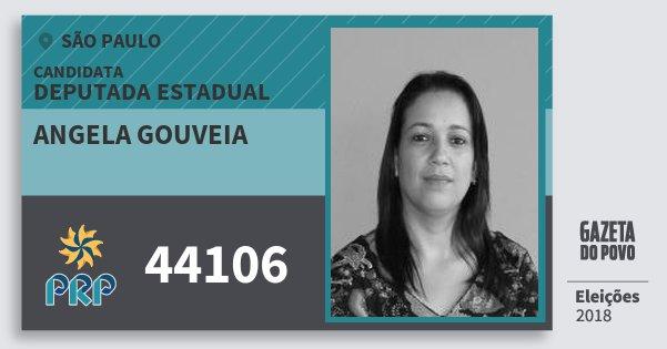 Santinho Angela Gouveia 44106 (PRP) Deputada Estadual | São Paulo | Eleições 2018