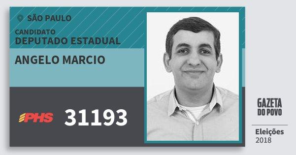 Santinho Angelo Marcio 31193 (PHS) Deputado Estadual | São Paulo | Eleições 2018