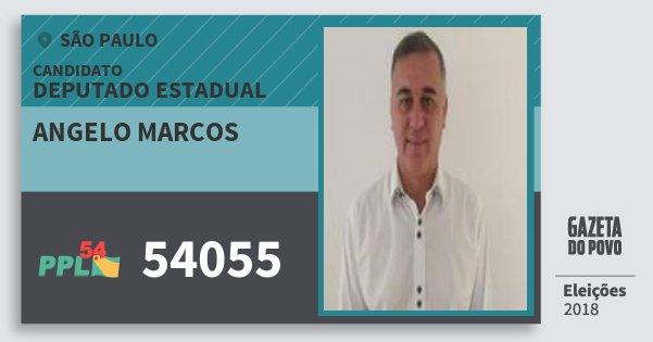 Santinho Angelo Marcos 54055 (PPL) Deputado Estadual | São Paulo | Eleições 2018