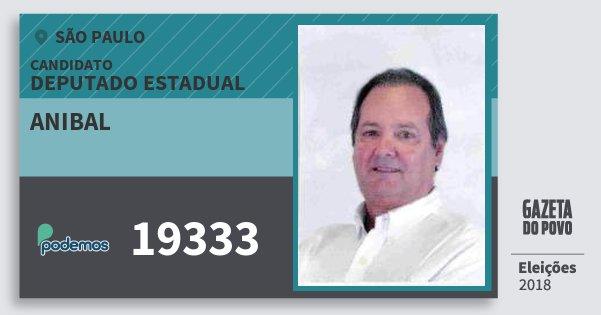 Santinho Anibal 19333 (PODE) Deputado Estadual | São Paulo | Eleições 2018