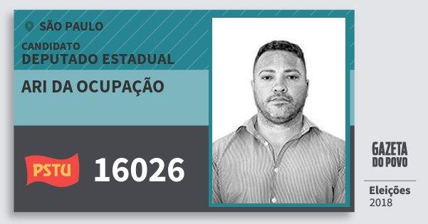 Santinho Ari da Ocupação 16026 (PSTU) Deputado Estadual | São Paulo | Eleições 2018