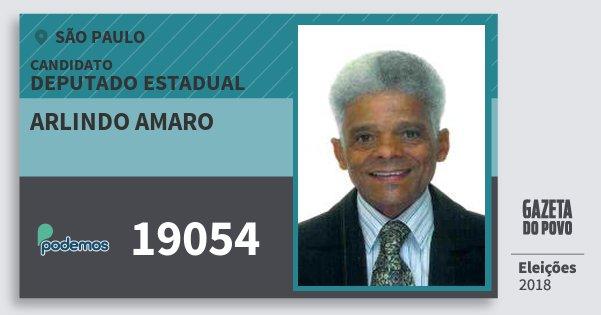 Santinho Arlindo Amaro 19054 (PODE) Deputado Estadual | São Paulo | Eleições 2018