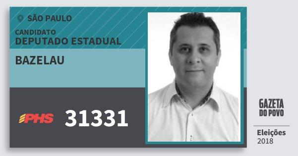 Santinho Bazelau 31331 (PHS) Deputado Estadual | São Paulo | Eleições 2018