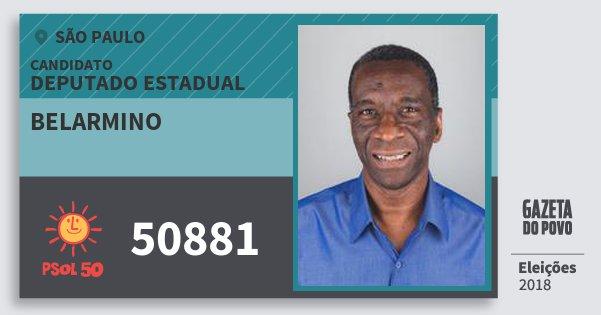 Santinho Belarmino 50881 (PSOL) Deputado Estadual | São Paulo | Eleições 2018