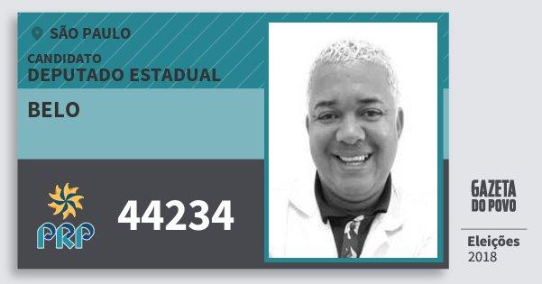 Santinho Belo 44234 (PRP) Deputado Estadual | São Paulo | Eleições 2018