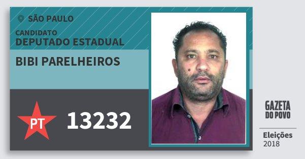 Santinho Bibi Parelheiros 13232 (PT) Deputado Estadual | São Paulo | Eleições 2018