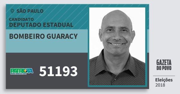Santinho Bombeiro Guaracy 51193 (PATRI) Deputado Estadual | São Paulo | Eleições 2018