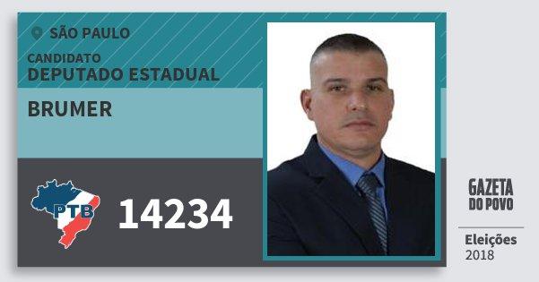 Santinho Brumer 14234 (PTB) Deputado Estadual | São Paulo | Eleições 2018