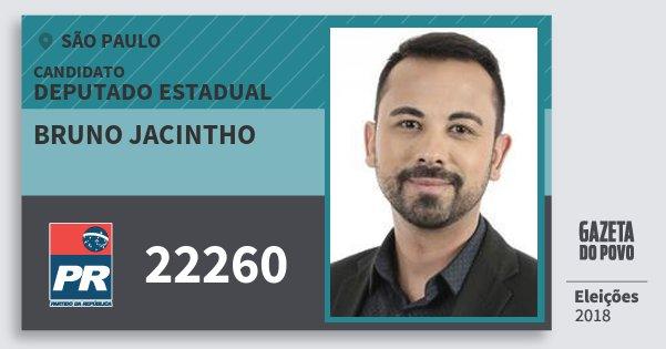 Santinho Bruno Jacintho 22260 (PR) Deputado Estadual | São Paulo | Eleições 2018