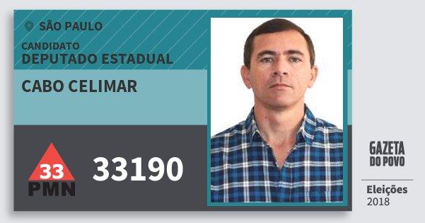 Santinho Cabo Celimar 33190 (PMN) Deputado Estadual | São Paulo | Eleições 2018
