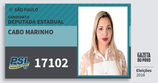 Santinho Cabo Marinho 17102 (PSL) Deputada Estadual | São Paulo | Eleições 2018