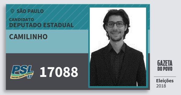 Santinho Camilinho 17088 (PSL) Deputado Estadual | São Paulo | Eleições 2018