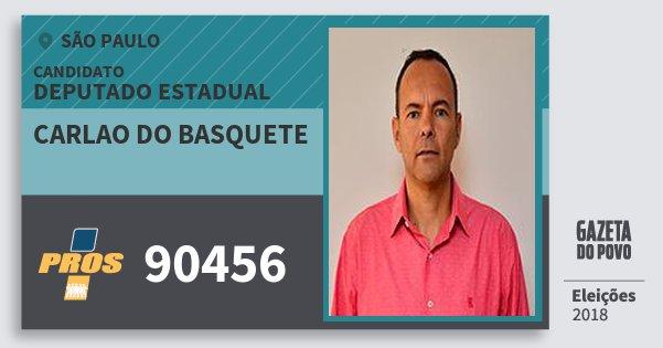 Santinho Carlao do Basquete 90456 (PROS) Deputado Estadual | São Paulo | Eleições 2018