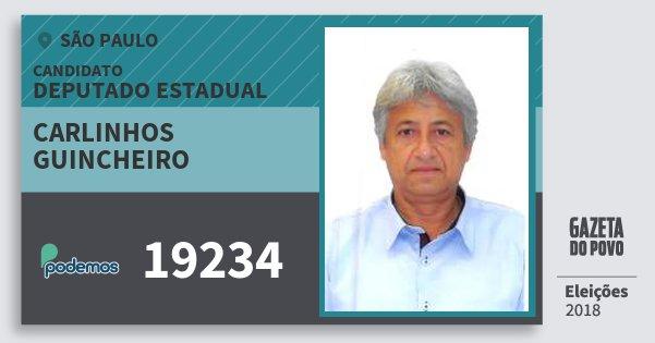 Santinho Carlinhos Guincheiro 19234 (PODE) Deputado Estadual | São Paulo | Eleições 2018