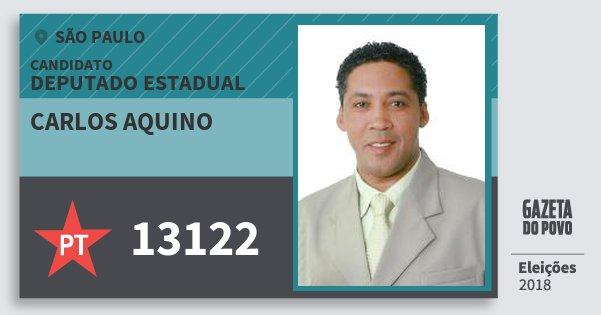Santinho Carlos Aquino 13122 (PT) Deputado Estadual | São Paulo | Eleições 2018