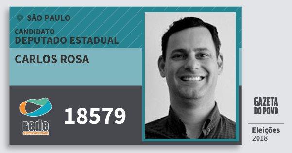 Santinho Carlos Rosa 18579 (REDE) Deputado Estadual | São Paulo | Eleições 2018