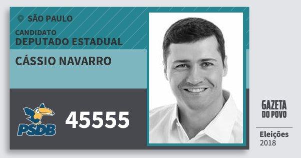 Santinho Cássio Navarro 45555 (PSDB) Deputado Estadual | São Paulo | Eleições 2018