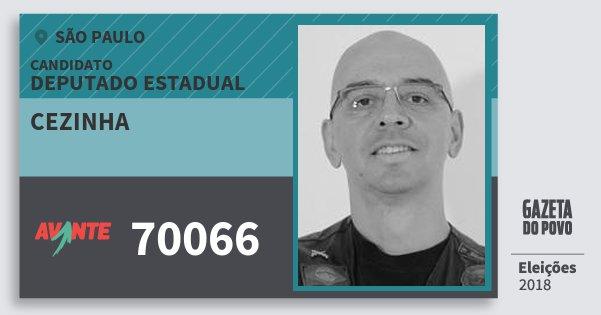 Santinho Cezinha 70066 (AVANTE) Deputado Estadual | São Paulo | Eleições 2018