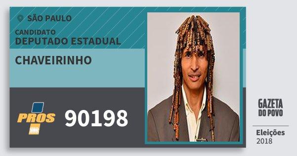 Santinho Chaveirinho 90198 (PROS) Deputado Estadual | São Paulo | Eleições 2018