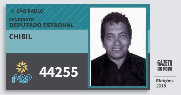 Santinho Chibil 44255 (PRP) Deputado Estadual | São Paulo | Eleições 2018