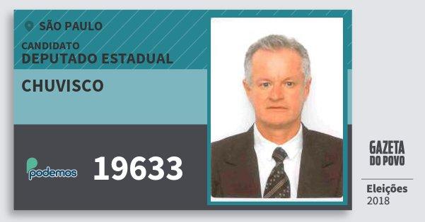 Santinho Chuvisco 19633 (PODE) Deputado Estadual | São Paulo | Eleições 2018