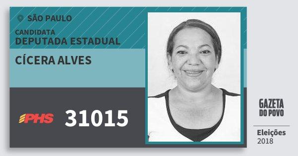 Santinho Cícera Alves 31015 (PHS) Deputada Estadual | São Paulo | Eleições 2018