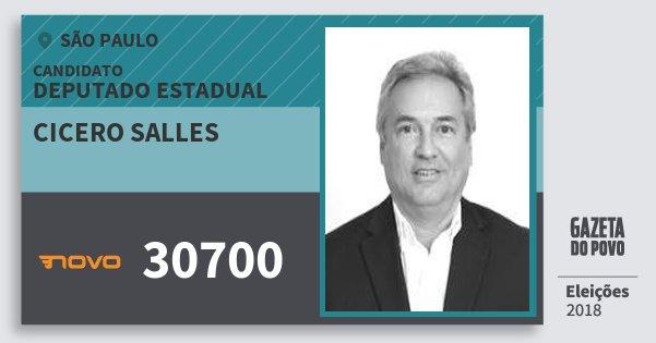 Santinho Cicero Salles 30700 (NOVO) Deputado Estadual | São Paulo | Eleições 2018