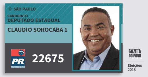 Santinho Claudio Sorocaba 1 22675 (PR) Deputado Estadual | São Paulo | Eleições 2018