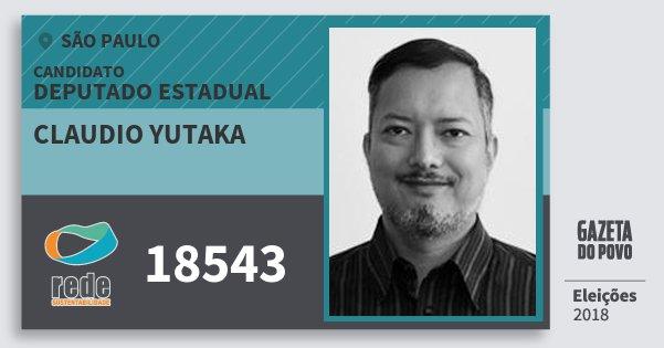 Santinho Claudio Yutaka 18543 (REDE) Deputado Estadual | São Paulo | Eleições 2018