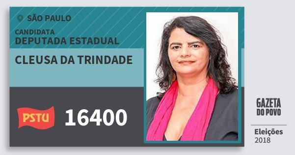 Santinho Cleusa da Trindade 16400 (PSTU) Deputada Estadual | São Paulo | Eleições 2018