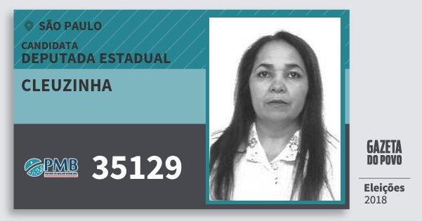 Santinho Cleuzinha 35129 (PMB) Deputada Estadual | São Paulo | Eleições 2018