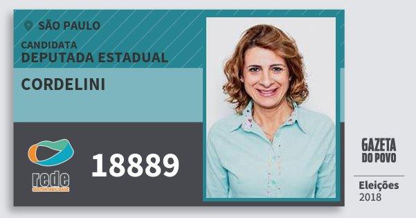 Santinho Cordelini 18889 (REDE) Deputada Estadual | São Paulo | Eleições 2018