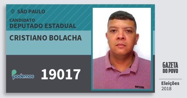 Santinho Cristiano Bolacha 19017 (PODE) Deputado Estadual | São Paulo | Eleições 2018