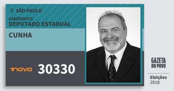 Santinho Cunha 30330 (NOVO) Deputado Estadual | São Paulo | Eleições 2018