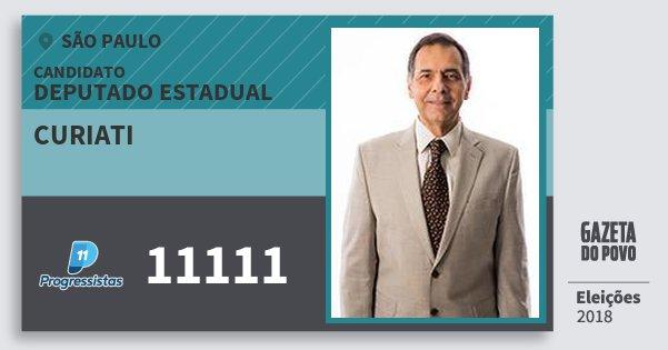 Santinho Curiati 11111 (PP) Deputado Estadual | São Paulo | Eleições 2018