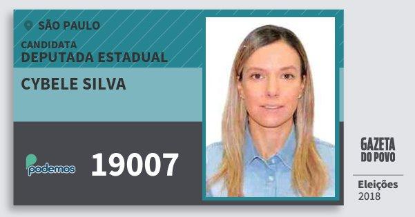 Santinho Cybele Silva 19007 (PODE) Deputada Estadual | São Paulo | Eleições 2018