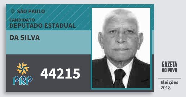 Santinho da Silva 44215 (PRP) Deputado Estadual | São Paulo | Eleições 2018