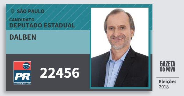 Santinho Dalben 22456 (PR) Deputado Estadual | São Paulo | Eleições 2018