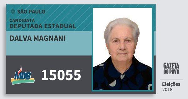 Santinho Dalva Magnani 15055 (MDB) Deputada Estadual | São Paulo | Eleições 2018