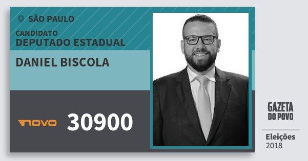 Santinho Daniel Biscola 30900 (NOVO) Deputado Estadual | São Paulo | Eleições 2018
