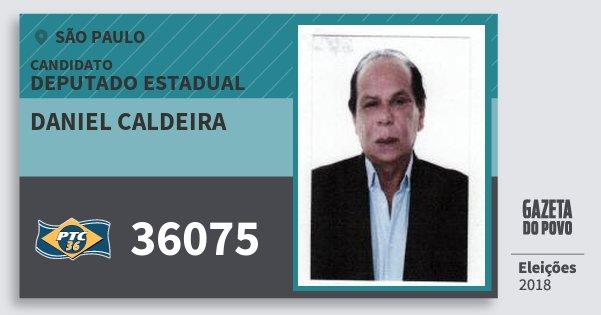 Santinho Daniel Caldeira 36075 (PTC) Deputado Estadual | São Paulo | Eleições 2018
