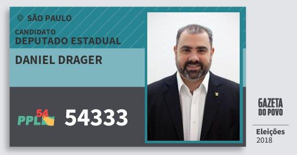 Santinho Daniel Drager 54333 (PPL) Deputado Estadual | São Paulo | Eleições 2018